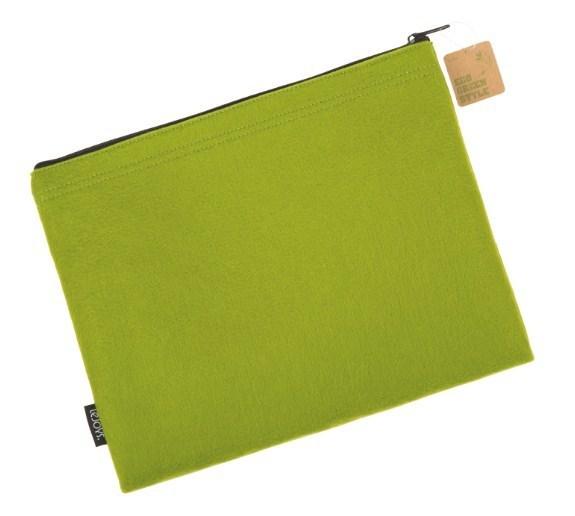 Папка на молнии, Lejoys, Felt, зеленая, 310*240 мм