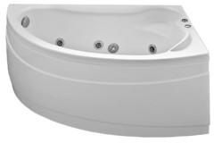 Ванна акриловая Bas Вектра 150х90х62, угловая асимметричная (правая), с гидромассажем