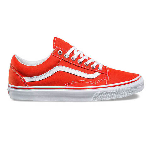 Кеды VANS Old Skool (Canvas) Cherry Tomato/True White
