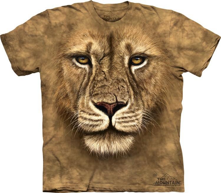 Футболка Mountain с изображением грозного льва - Lion Warrior