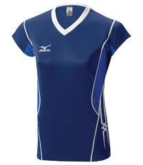 Женская волейбольная футболка Mizuno Premium CapSleeve (V2EA4701M 14) синяя