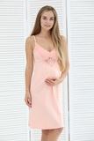 Ночная сорочка для беременных и кормящих 09903 молочный