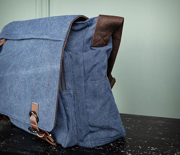 BAG504-3 Мужской портфель из плотного текстиля синего цвета фото 06