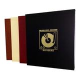Разделители Для Виниловых Пластинок, Черные Кожаные (Deluxe Vinyl Leather Dividers Black)