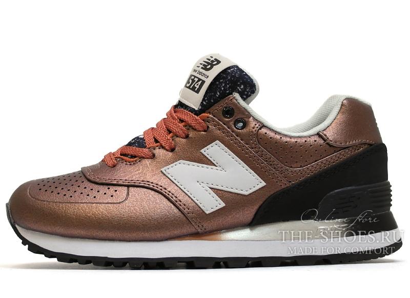 49569242 Женские New Balance 574 Bronze купить в интернет-магазине the-shoes ...