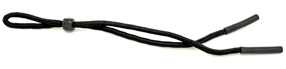 Шнурок для стрелковых очков из ткани с резиновыми заканцовками 60 см черный
