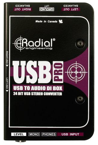 Radial USB Pro директ-бокс с USB-интерфейсом