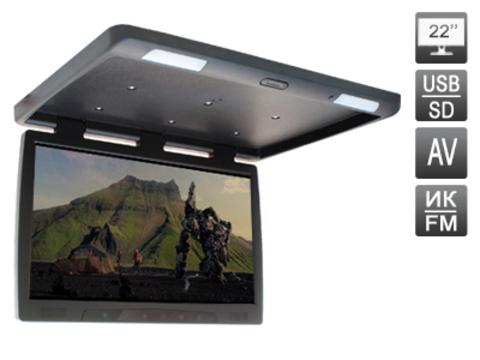 Потолочный автомобильный монитор AVIS Electronics AVS2220MPP (черный)