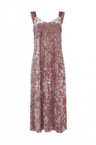 Платье комбинация Розовый Бархат