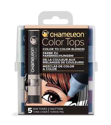 Набор цветовых блендеров Chameleon Color Tones Skin Tones, телесные тона 5 шт.