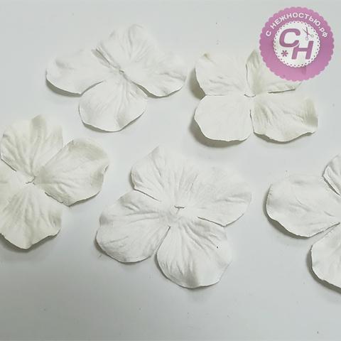 Лепестки гортензии из бумаги, 5 см, 5 штук.