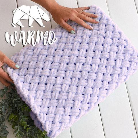 Плед плюшевий ручной вязки Warmo™