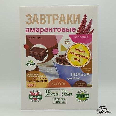 Завтраки амарантовые в глазури без сахара, со стевией Di&Di , 250 гр