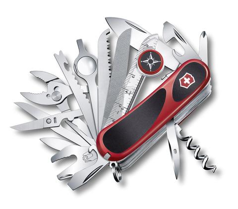 Нож Victorinox EvoGrip S54, 85 мм, 31 функция, красный с черным