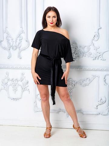 Туника- платье с поясом арт. 135