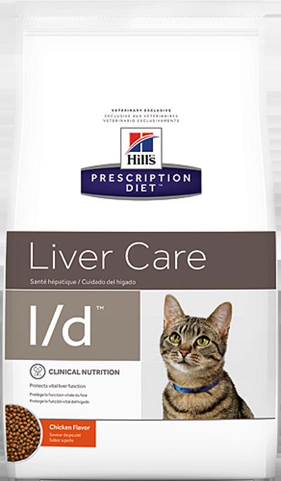 Кошки Ветеринарный корм для кошек при заболеваниях печени Hill`s Prescription Diet l/d лд.png