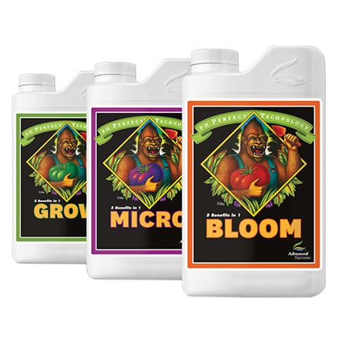 Комплект минеральных удобрений Grow, Micro, Bloom от Advanced Nutrients 1л