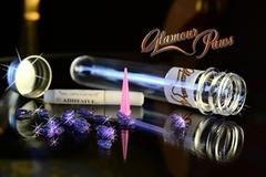 Антицарапки накладные коготки Glamour Paws/Гламурные лапки фиолетовый с блестками S