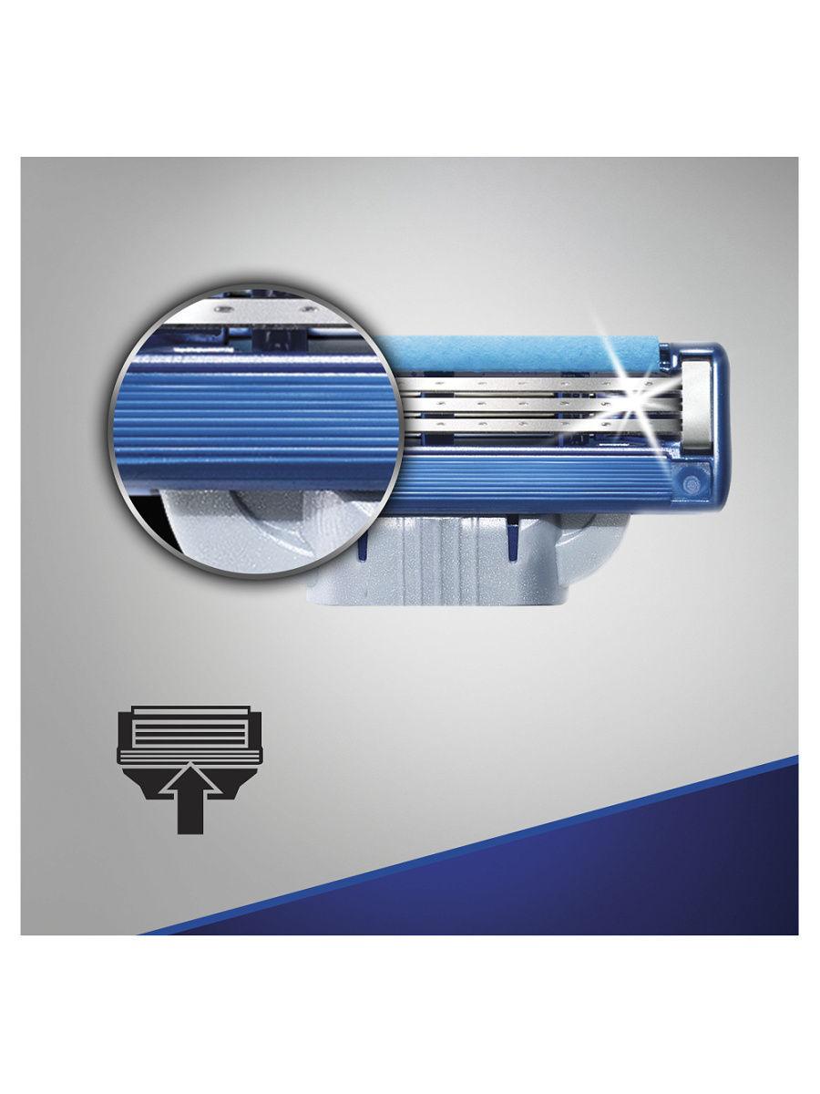 Лезвия для бритья Gillette mach3 turbo 4 шт.(ЭКОНОМ)