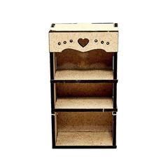 Книжный шкаф для кукольного домика из МДФ