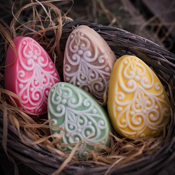 Мыло Яйцо с орнаментом. Форма для мыла