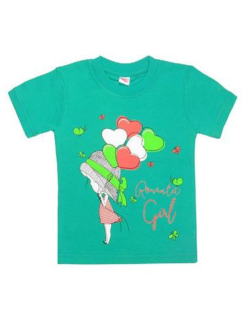 DL11-1-18 Футболка детская, зеленая