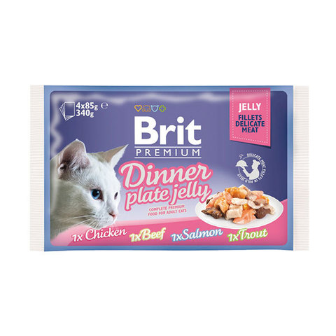Паучи Brit Premium Dinner Plate Jelly набор для кошек