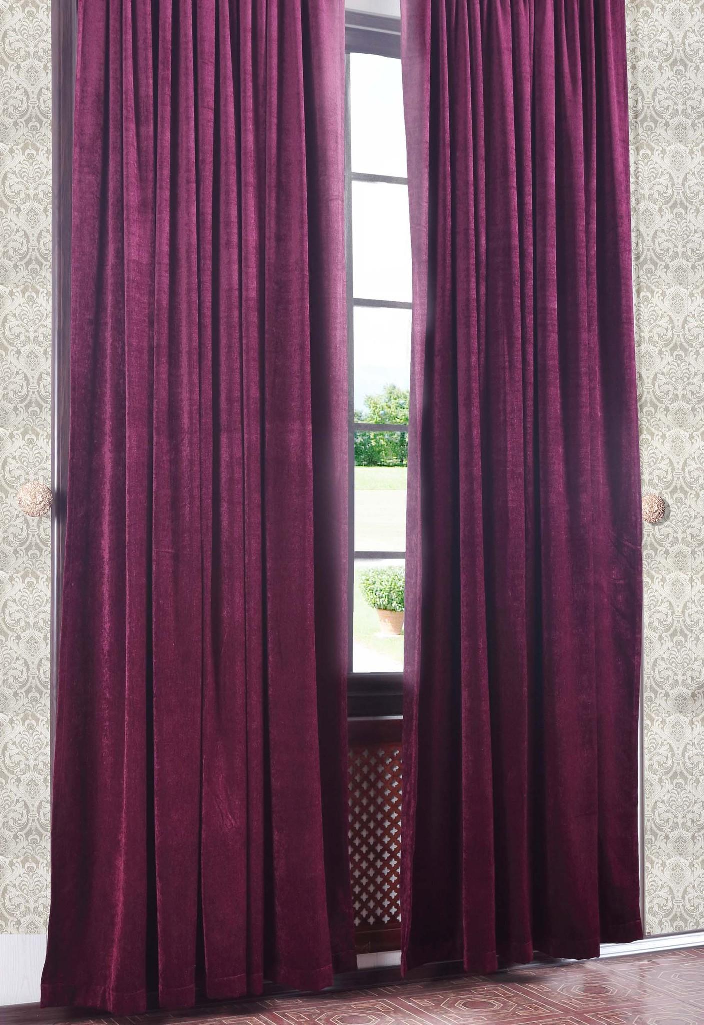 Готовая штора. Бархат (шенилл) вишневый