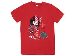 18059-15 футболка для девочек, красная