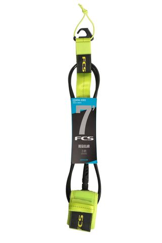 FCS 7' Regular Essential Leash Fluro Green