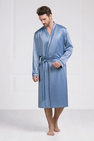 Мужской шелковый халат 60395 Laete Турция