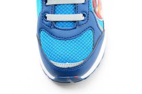 Светящиеся кроссовки для мальчиков Энгри Бердс (Angry Birds) на липучках, цвет синий, мигает картинка сбоку. Изображение 10 из 13.