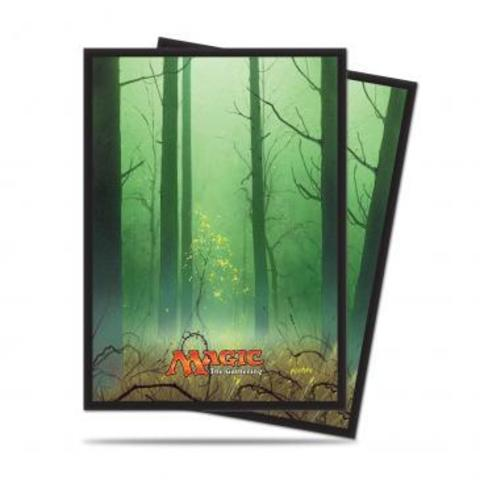 Mana 5 Forest Standard Deck Protector sleeves for Magic 80ct