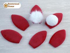 Мягкий декор ушки флисовые красные