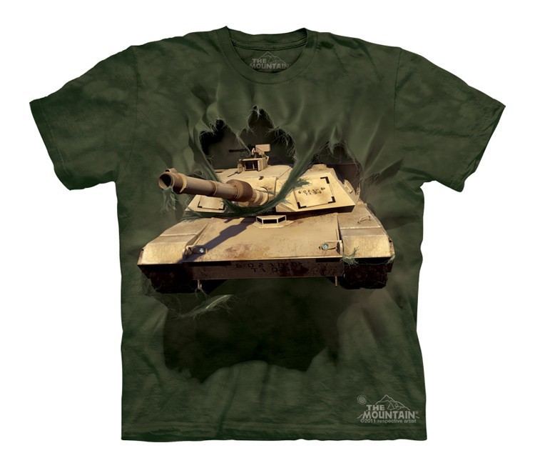 Футболка детская Mountain с изображением танка Абрамс - M1 Abrams Tank Breakthru