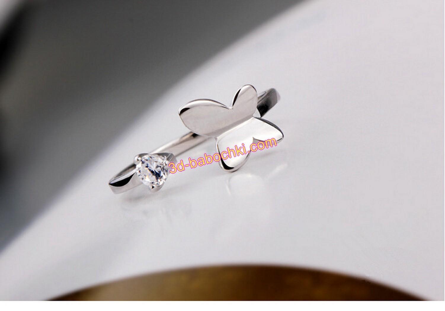 серьги кольца с бабочками