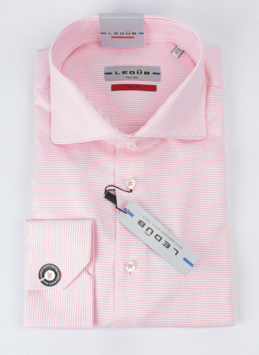 Рубашка Ledub slim fit 0135881-420-430-000-SF-Pink