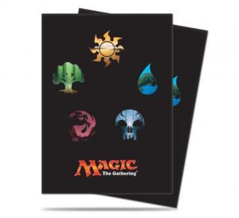 Mana 5 Symbols Deck Protector Sleeves for Magic: The Gathering - 80ct