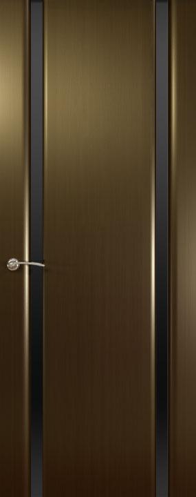 Шторм-2 ДО, Венге(черное стекло), Дверное полотно, ОКЕАН