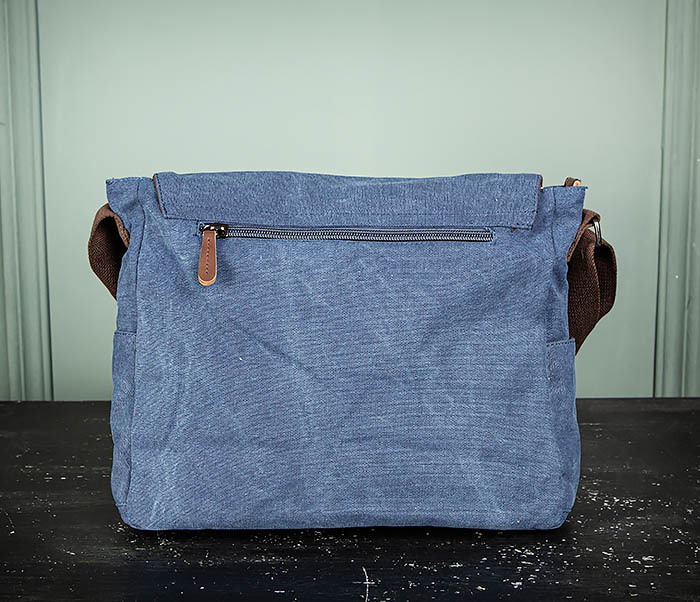 BAG504-3 Мужской портфель из плотного текстиля синего цвета фото 07