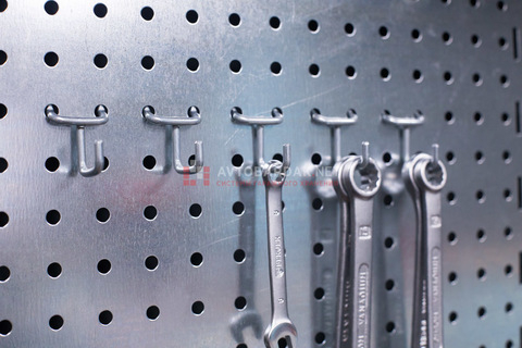 Мини J образные крючки (5 шт) 25 мм  на металлическую перфопанель