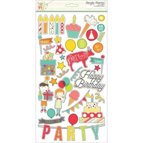 Чипборд на толстом самоклеящимся картоне Lets party Simple stories