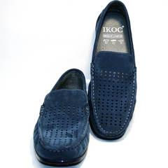 Мужские синие мокасины IKOC 1352-2 Blue.