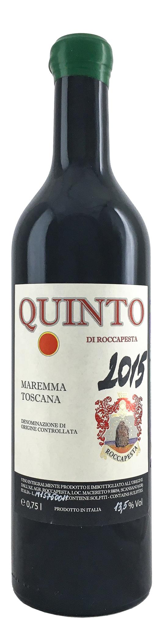 Вино Куинто ди Роккапеста сухое красное з.н.м.п. кат. DOC рег. Тоскана 0,75л.