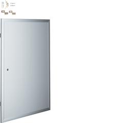 Алюминиевая дверца, с рамкой, с цил.замком и вставкой для организации пульта управления для встраиваемых щитков,Volta 3-рядных