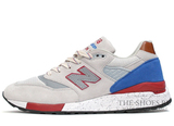 Кроссовки Мужские New Balance 998 Made In USA Grey Blue Red