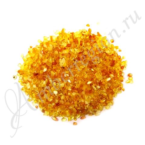 Янтарная крошка (полуфабрикат), фракция 0-2 мм (светлый) 8 кг.