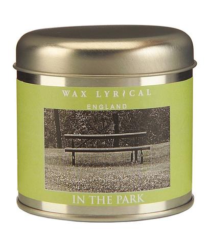 Свеча ароматическая в алюминиевой банке Прогулка в парке, Wax Lyrical