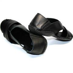 Мужские сандали мужские кожаные Luciano Bellini 801 Black.