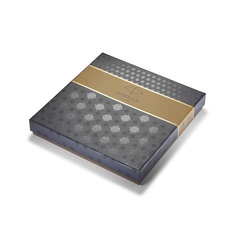 Набор с гравировкой: Фирменный блокнот и Ручка роллер Parker IM Core Brushed Metal GT123